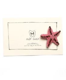 MilkTeeth Starfish Brooch - Pink