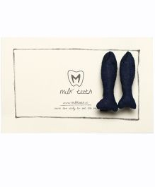 MilkTeeth Eel Hair Snaps - Navy Blue