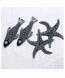 MilkTeeth Fish Family Soft Toy - Navy Blue