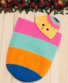 D'chica I Am So Colourful Wearable Blanket & Cap - Multicolor