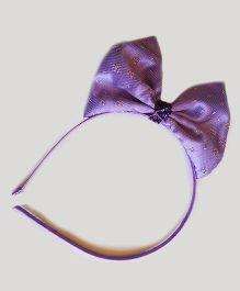 Reyas Accessories Stylish Glittery Headband - Purple
