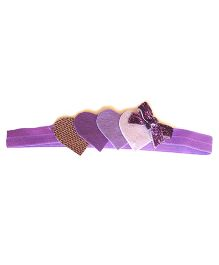 Reyas Accessories Heart & Bow Head Band - Purple