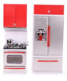 Kumar Toys Modern Kitchen Set - Red