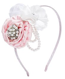 D'chica It's Perfect For Parties Hair Band For Girls - Pink & White