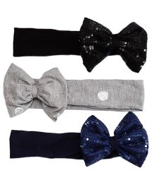 D'chica Set Of 3 Sequence Bow Headbands For Girls - Multicolor