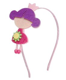 D'chica Sweet Little Dolly Hair Band - Purple & Pink