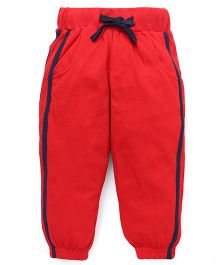 Babyhug Knitted Track Pants - Red