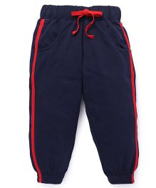 Babyhug Knitted Track Pants - Navy Blue