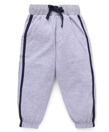 Babyhug Knitted Track Pants - Grey Melange