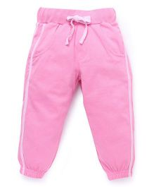 Babyhug Full Length Knitted Track Pant - Dark Pink