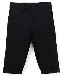 Babyhug Four Pocket Cotton Capri - Black