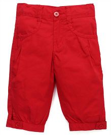 Babyhug Solid Colour Capri - Red