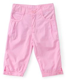 Babyhug Solid Colour Capri - Pink