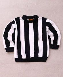 Superfie Stripe Print Sweatshirt - Black