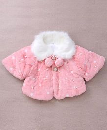 Superfie Pure Cotton Coat For Kids - Pink