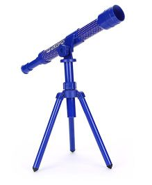 Comdaq Telescope With Tripod Stand Dotted Print - Blue