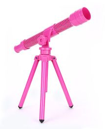 Comdaq Telescope With Tripod Stand Dotted Print - Pink