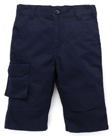 Babyhug Jamaican Pants With Side Pockets - Navy Blue