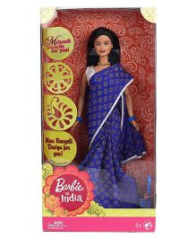 Barbie In India Doll Royal Blue - Height 28 cm