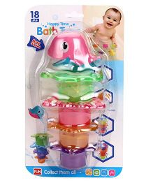 Bath Toys Pack Of 5 - Multicolor