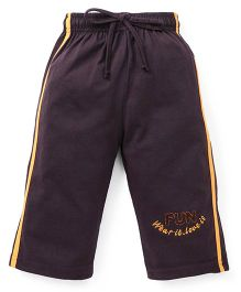 Cucu Fun Three Fourth Track Pant - Dark Brown