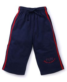 Cucu Fun Three Fourth Track Pant - Navy Blue