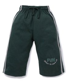 Cucu Fun Three Fourth Track Pant - Dark Green