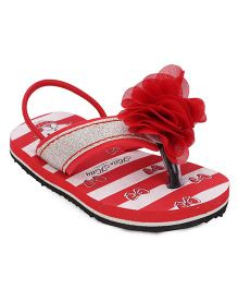 Hello Kitty Flip Flops With Back Strap - Red