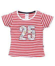 Cucu Fun Half Sleeves Top 25 Patch - Red