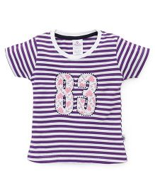 Cucu Fun Half Sleeves Top 83 Patch - Purple