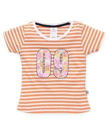 Cucu Fun Half Sleeves Top 09 Patch - Orange