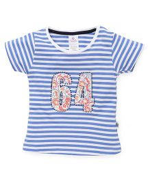 Cucu Fun Half Sleeves Top 64 Patch - Blue