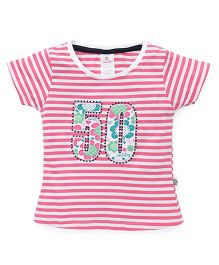 Cucu Fun Half Sleeves Top 50 Patch - Pink