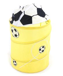 Foldable Storage Bag With Cover Football Print - White Yellow