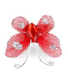 Sugarcart Net Butterfly Finger Ring - Red