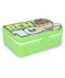 Jewel Tiffin Box With Ben 10 Print - Green