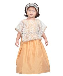 Chubby Cheeks Classic Choli With Cape And Lehenga - Golden