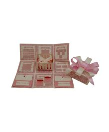 Crack of Dawn Baby Record Handmade Explosion Gift Box - Pink