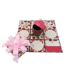 Crack of Dawn Birthday Handmade Explosion Gift Box Cup Cakes Deign - Pink