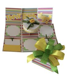 Crack of Dawn Birthday Handmade Explosion Gift Box  - Green Yellow