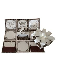 Crack of Dawn Fathers Day Handmade Explosion Gift Box - Grey Black
