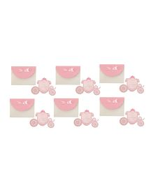 Crack of Dawn Crafts Princess Carriage Birthday Invitations Pink - Pack of 6