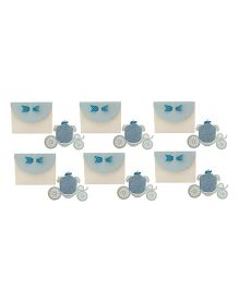 Crack of Dawn Crafts Princess Carriage Birthday Invitations Blue - Pack of 6