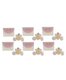 Crack of Dawn Crafts Princess Carriage Birthday Invitations Lavender - Pack of 6