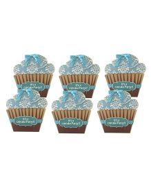 Crack of Dawn Crafts Cupcake Birthday Invitations Blue - Pack Of 6