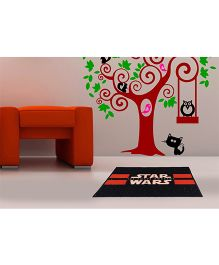 Spaces Cotton Bath Mat Star Wars Print - Black
