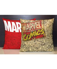 Spaces Reversible Polyester Cushion Cover Marvel Comics Print - Red