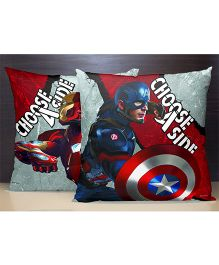 SPACES Reversible Polyester Kids Cushion Cover Civil War Print - Multi Color