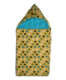 Kadambaby Polka Dot Print Sleeping Bag - Yellow
