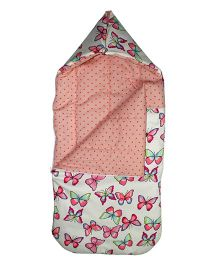 Kadambaby Butterfly And Heart Print Sleeping Bag - Multicolor